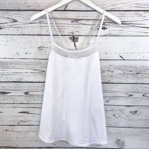 EUC Athleta white strappy cami tank top M